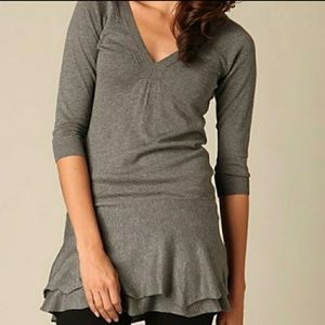 Free people xs gray knit sweater dress